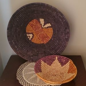 2 Coil Weave Baskets